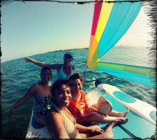 Dive and Adventure Mahahual Hobicat Sailing tour